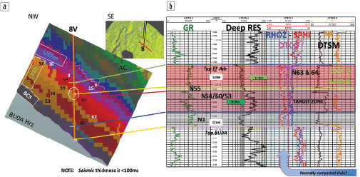 Expanded SOM results in seismic interpretation software