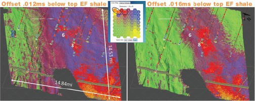 SOM results and geobodies in the Eagle Ford