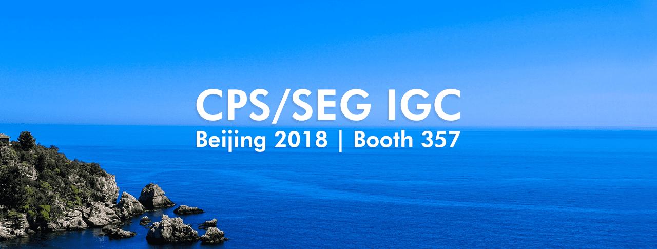 CPS/SEG IGC 2018 | Booth #357