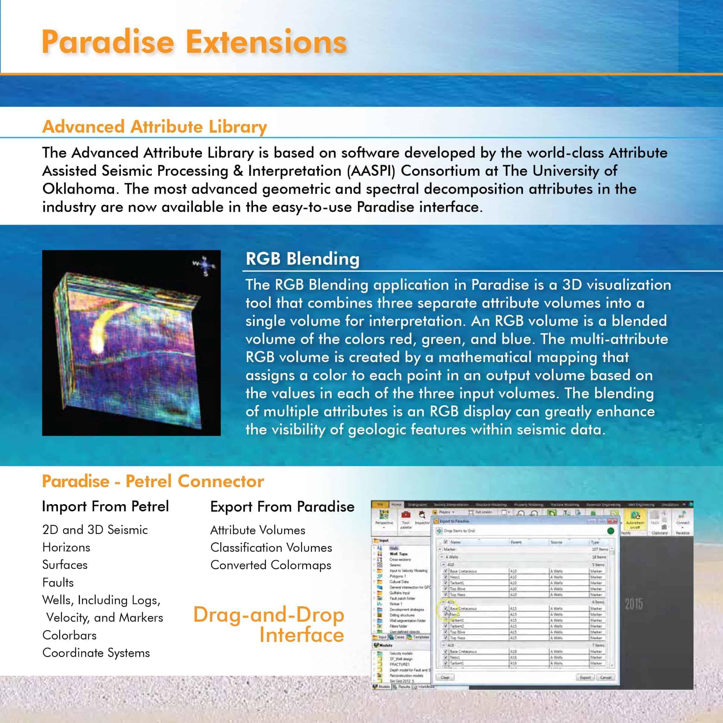 Paradise 3.2 Brochure - Seismic Interpretation Software- Paradise Extensions
