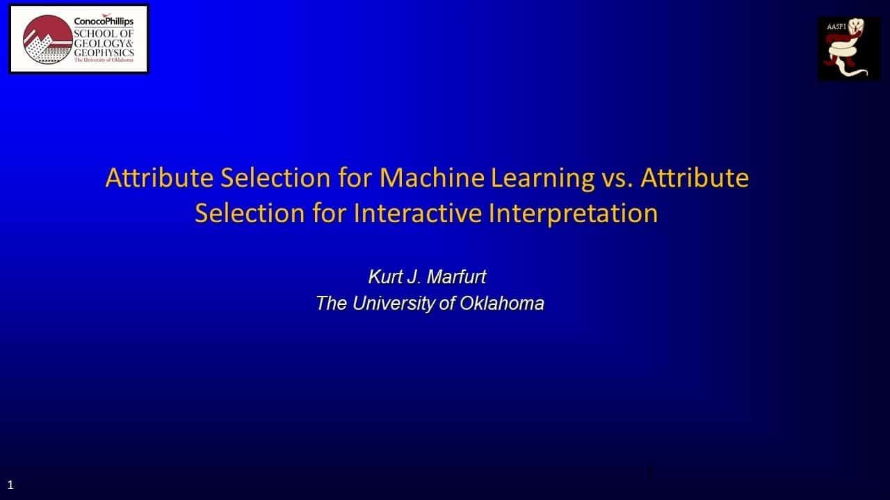 Title slide for Marfurt presentation