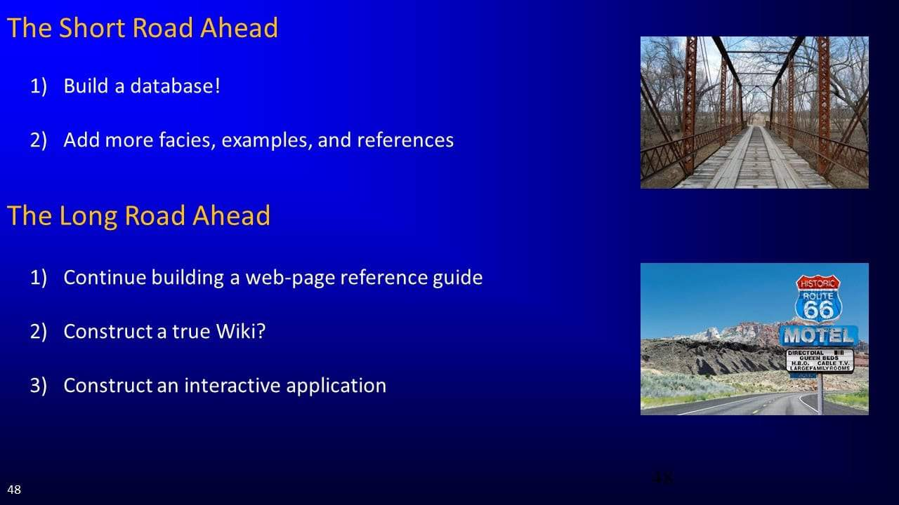 Slide screenshot future of databases and applications