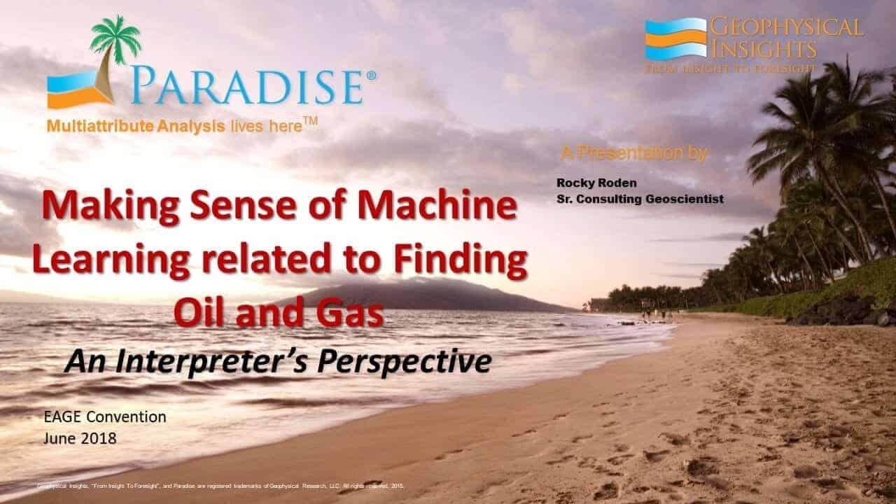 Title slide for making sense of machine learning