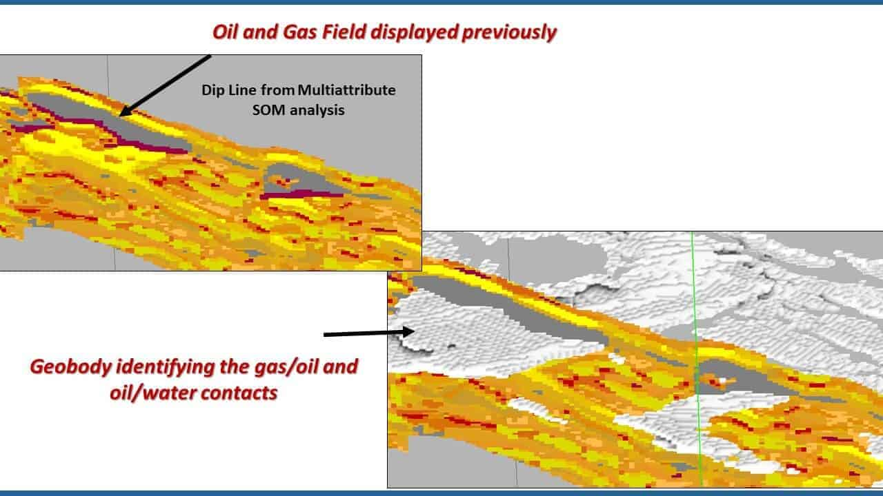 Geobody of oil and gas field