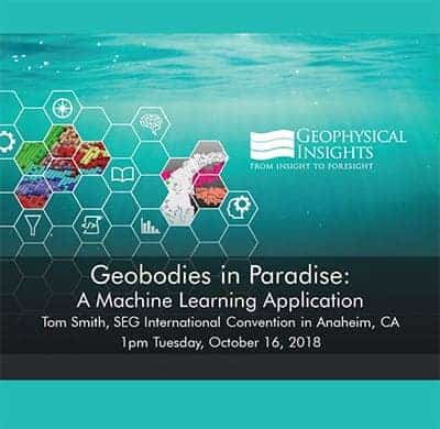 Title slide for geobodies in paradise