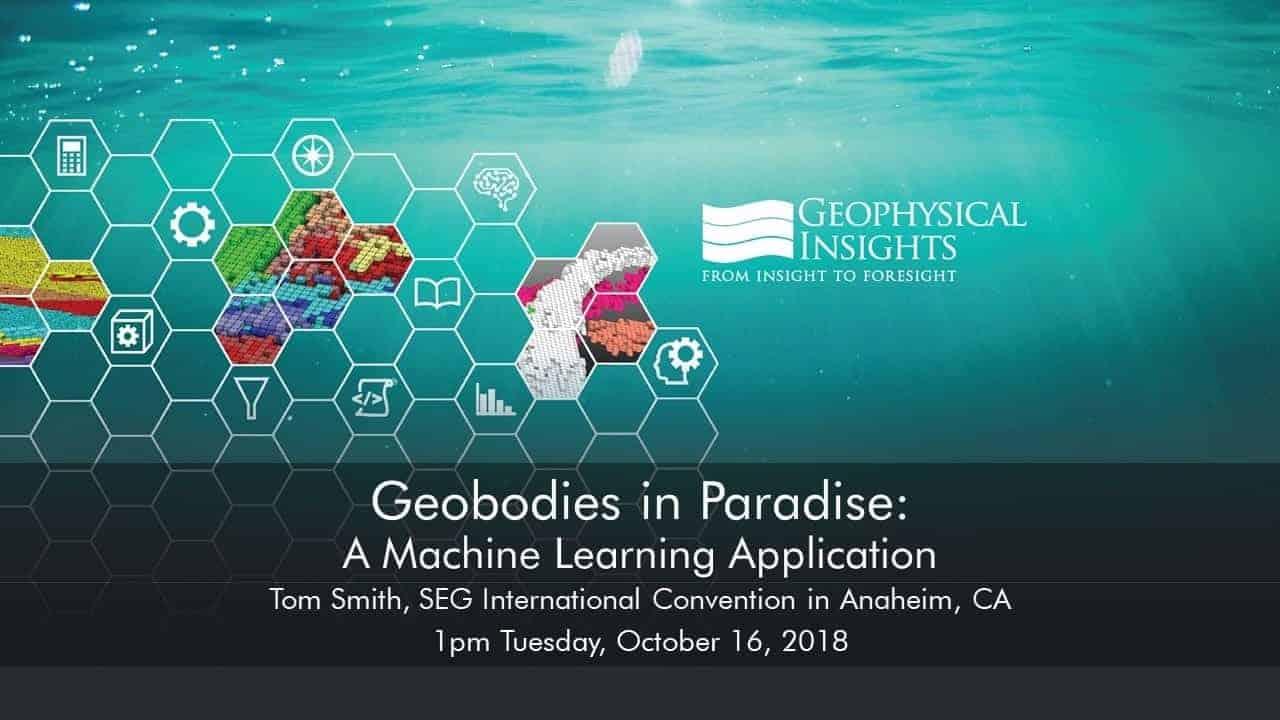 Title slide for SEG 2018 machine learning