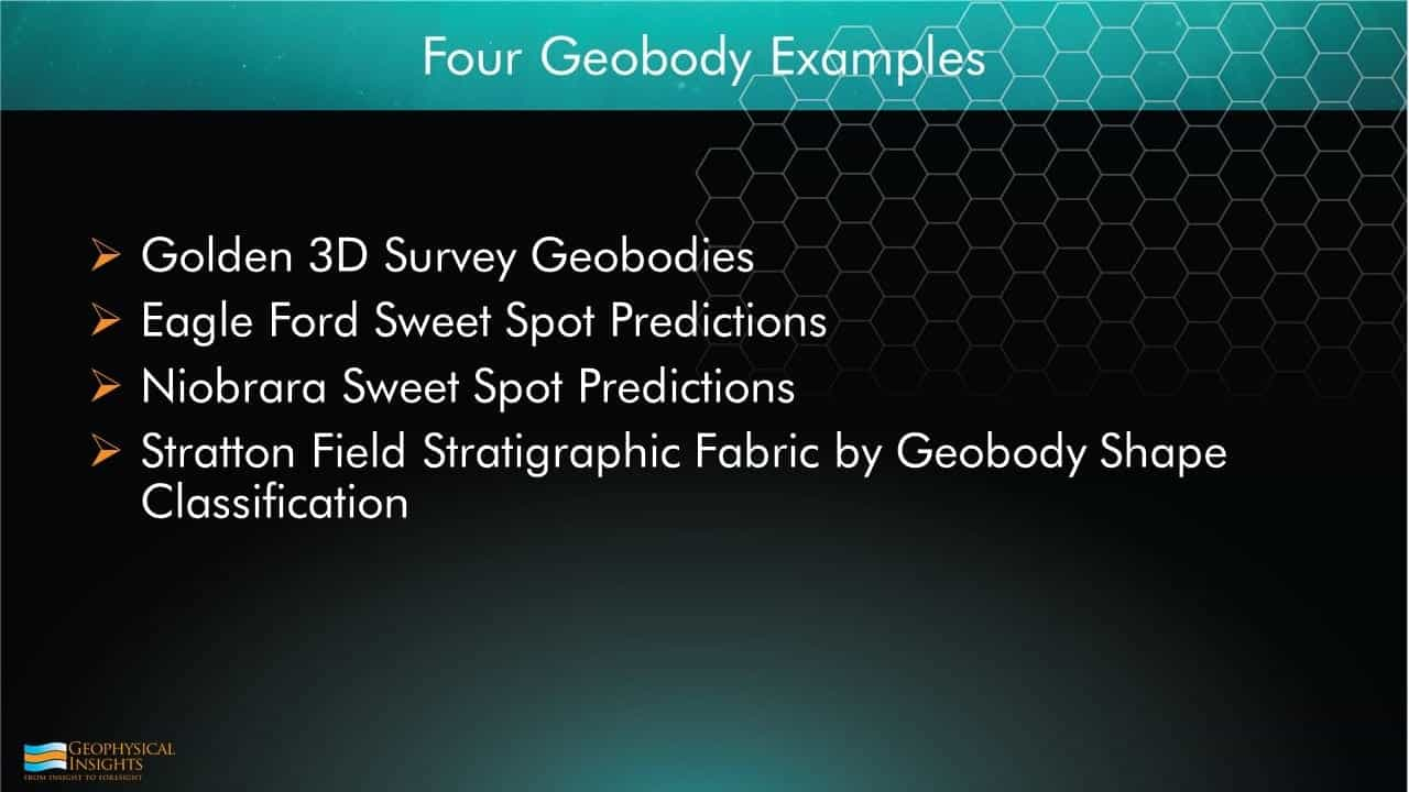 4 geobody examples