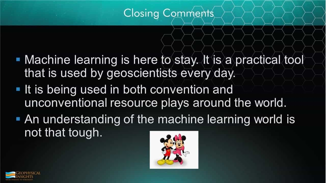 Slide image closing comments machine learning