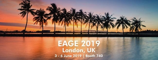 Image with text for EAGE conference in London - 2019