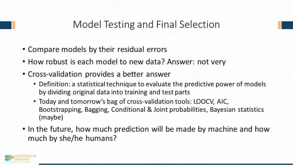 Model Testing and Final Selection