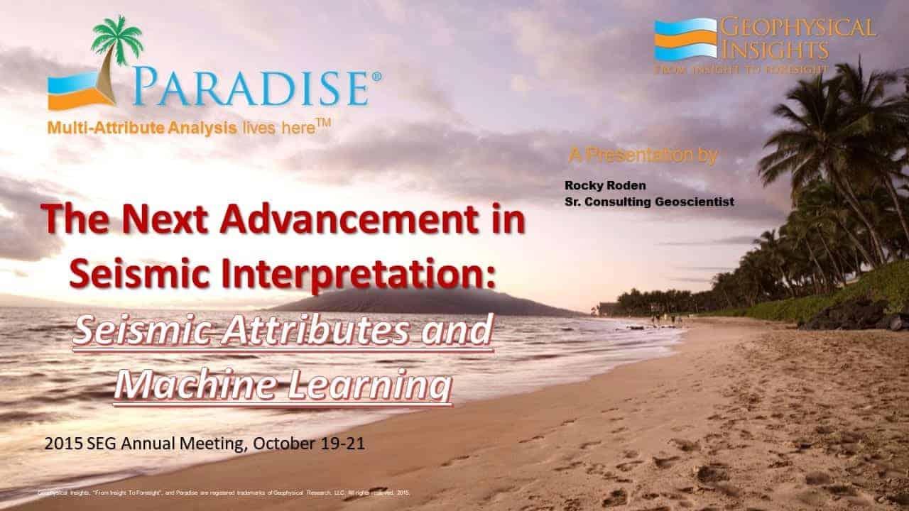 Title slide on the next advancement in seismic interpretation