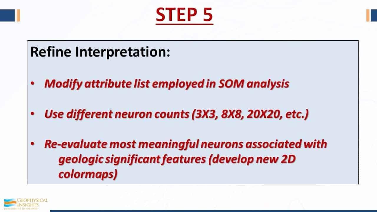 Step 5 seismic interpretation
