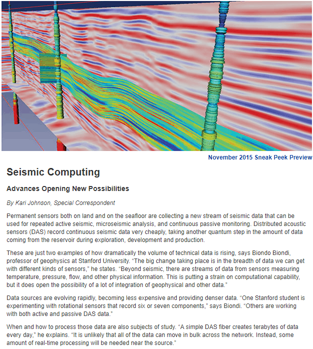 Seismic Computing - Advances Opening New Possibilities