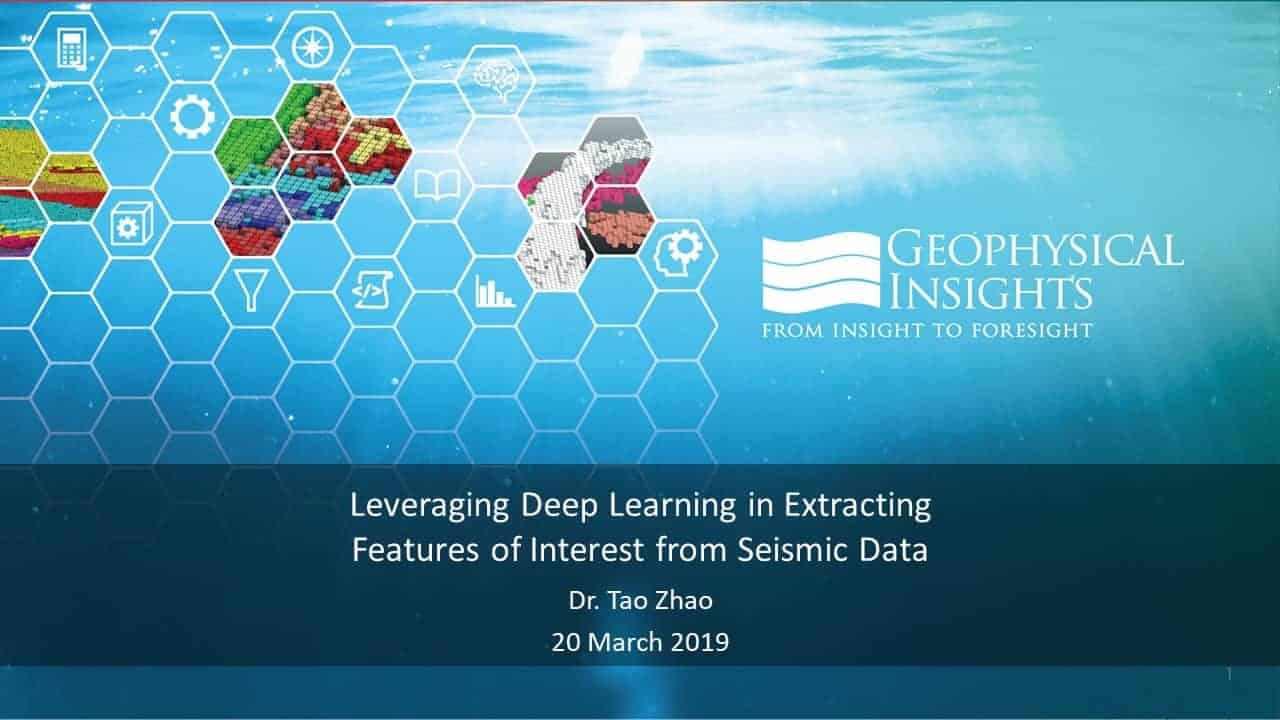 Video: Leveraging Deep Learning in Extracting Features of Interest from Seismic Data