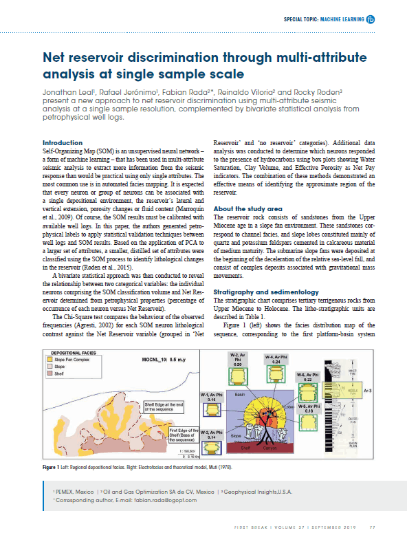 Net Reservoir Discrimination through Multi-Attribute Analysis at Single Sample Scale